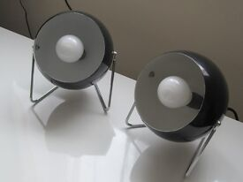 Two Black table/bedside lamps (Southsea)