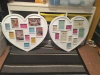 Heart multi picture frame