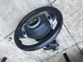 Mini r50/r53 steering wheel and columb
