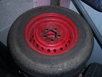 vw t25 original wheels set of 4, 185r14c with 3 good tyres