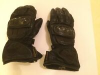 Schoeller Leather motorbike gloves. Size M/9