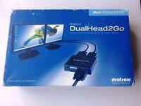 Matrox DualHead2Go Analog VGA Dual Monitor Graphics Adapter D2G-A2A