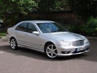 FINANCE AVAILABLE!! 2007 MERCEDES-BENZ C CLASS 2.1 C220 CDI SPORT EDITION AUTO, FULL BLACK LEATHER