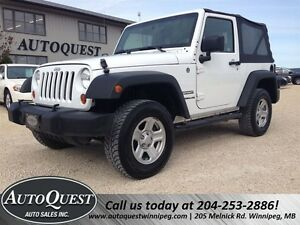 2012 Jeep Wrangler Sport - 6 Speed Manual with 4X4!