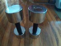 Pair of Chrome Dumbells - 6kg each.