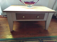 FLIPPED FURNITURE, vintage solid oak totally unique coffee table/tv stand