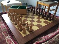 Chess Set, board and box.