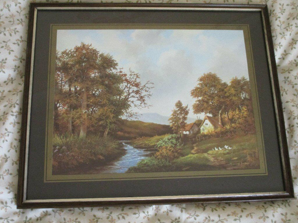5 Pictures 4 Vincent Selby Scenic Prints One Edgar Hunt Farmyard