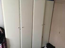 Ikea cream wardrobes
