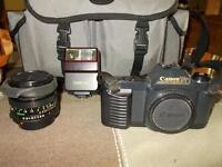 Caméra,lentille et flash Canon