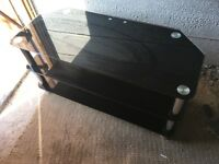 Black Glass 3Tier TV Stand in Chrome Like New Great Condition Fits Upto 55in Tv