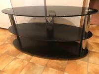 Black tv Stand. Glass