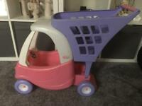 Little tikes cozy coupe trolley pink/purple