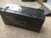Vintage Large Steel Trunk or Chest - bargain £35