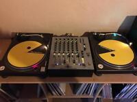 2 x Technics 1210 MK2 turntables, Allen & Heath Xone:62 mixer for sale
