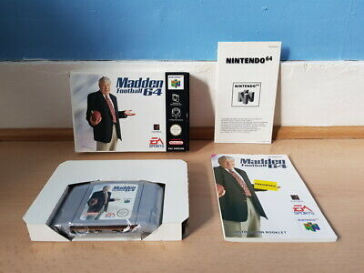 Madden Football 64 N64 Complete VGC