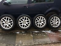 VW Montreal 2 alloy wheels 16 inch 5x100 - few scuffs and kerb marks but still good condition