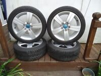 17 x 4 Alloys Wheels and WINTER TYRES Will Fit VW T- 4 VW Caddy Audi A3 A4 A5