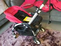 Bugaboo Bee, red with lots of accessories