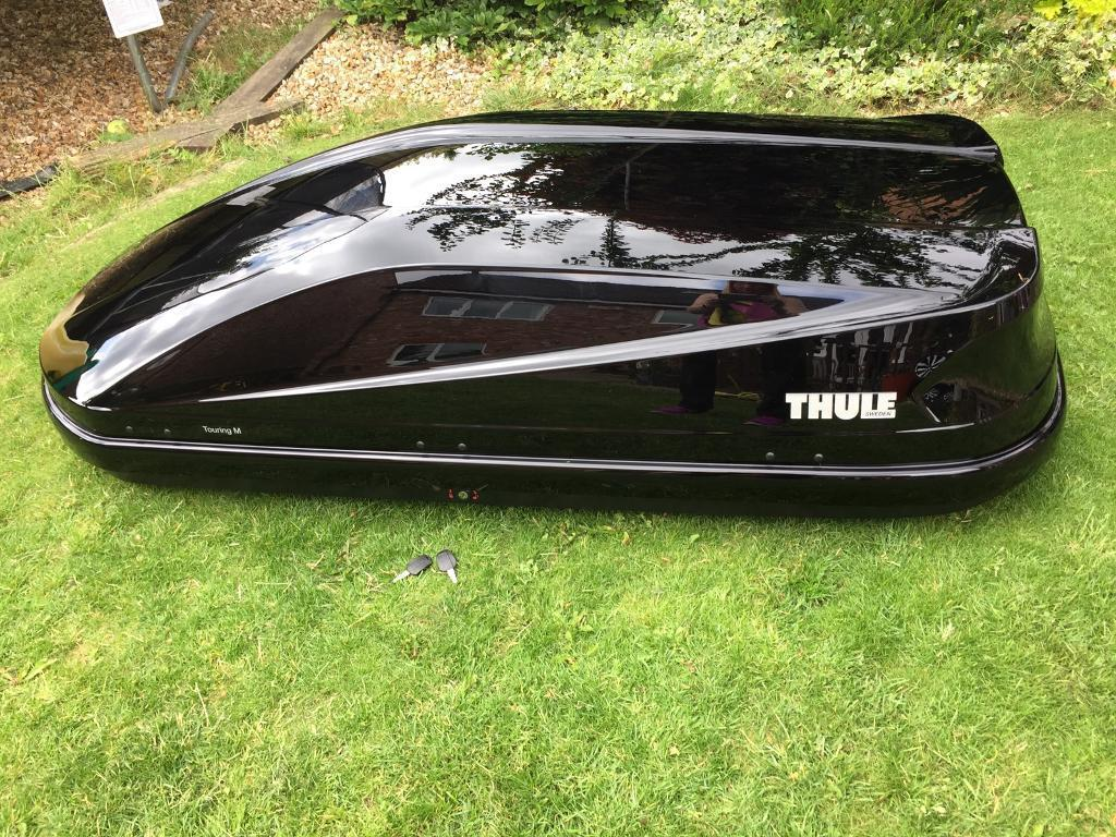 thule touring m gloss black 400l roof box in nottingham. Black Bedroom Furniture Sets. Home Design Ideas