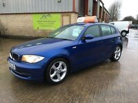 2007 BMW 118D 1 Series Diesel 5 Door **Full Service History** *FINANCE AND WARRANTY* (A3,golf,leon)