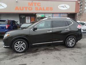 2014 Nissan Rogue SL, LEATHER SEATS, NAV, AWD , LOW KM