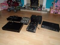 Joblot of DJ/music equipment including CDJ-400