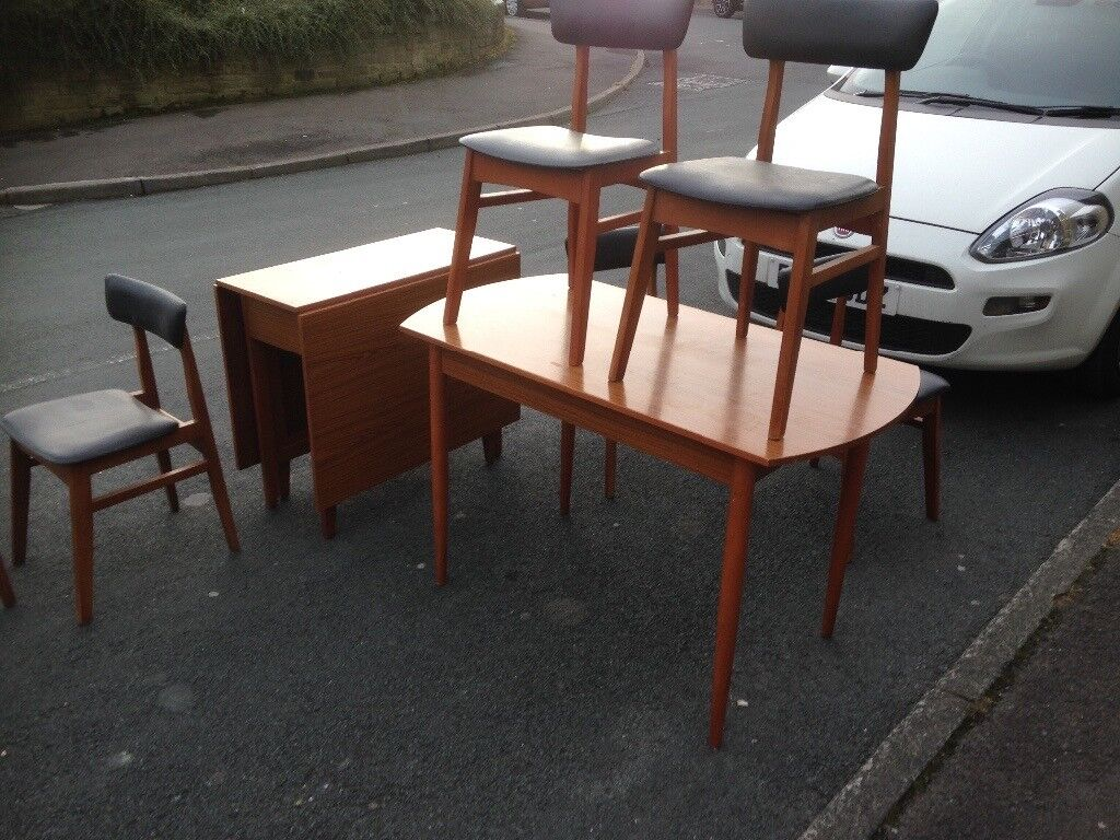 Two tables six chairs schreiber £45