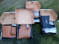 4 pairs of rigger boots 3 x size 13 and 1 size 12
