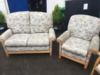 CINTIQUE SOFA AND TWO SINGLE CHAIRS