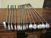 Set of Left Hand Golf Clubs and Golf Bag