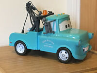 Disney Pixar Cars Blue Mater Talking Tow Truck - Flashing Light and Sounds Toy