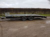 Ifor Williams Beavertail car transporter