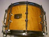 """Tama AW548 Artwood BEM Pat 30 snare drum 14 x 8"""" - Japan - '80s - Ex- Phil Gould-Level 42"""