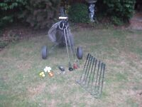 Ideal Starter set of 10 clubs, bag, trolley, balls and tees.