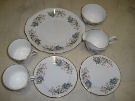 Queen Anne Bone China Tea Set Made in England As New