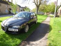Alfa Romeo 156 2.4 JTD Sportwagon. Metallic black. 160,000 miles For spares or repair.