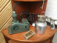 K J Miller vintage spraying equipment, with original box and instructions.