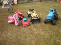 Pedal Tractors x 2 & 3 other ride on toys