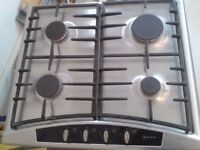 NEFF STAINLESS STEEL GAS HOB T2346N1 60cm WITH CAST IRON PAN STANDS £30