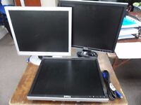 """3x 17"""" Monitors for 40, or 17 each, 10 for monitor without stand"""