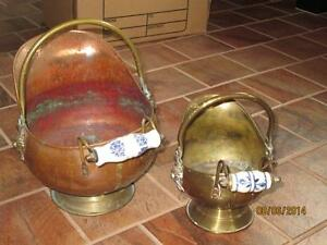 Antique Brass and copper pails London Ontario image 1