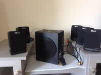 **SUPER CHEAP** 5.1 Speaker system – TRUST with adapter