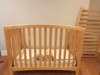 Free baby crib/toddler bed, changing table, table, chair, toys