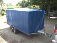 VERY RARE 10X5X5 COVERED BOX TRAILER TWIN AXLE 750KG UNBRAKED....