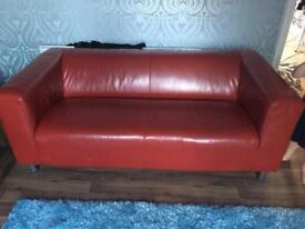 Red 3 seater sofa for sale