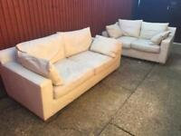 2 & 3 seater cream sofas - free delivery within 1 mile