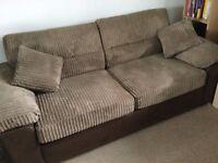 Fabric 3/4 seat sofa