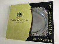 Wilton Armetale Flutes & Pearls Medium Oval Tray (Brand New)