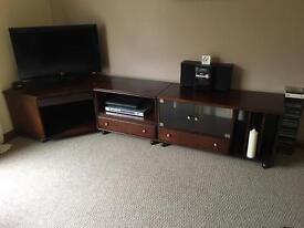 Corner tv unit with 2 units
